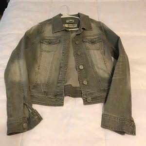 Gray denim jacket
